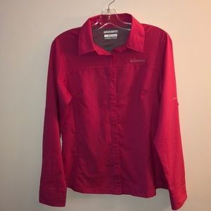 Columbia Ladies Button Up Top Omni Shade